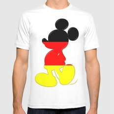 German Mickey Maus SMALL White Mens Fitted Tee