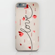Love, Butterfly Hearts & Text Unique Valentine Slim Case iPhone 6s