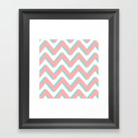 3D CHEVRON 3 Framed Art Print