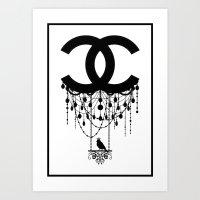 Coco Chandelier Art Print