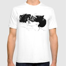 Whispers SMALL Mens Fitted Tee White