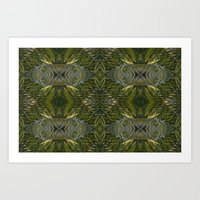 Coconut Leaf Collage Art Print
