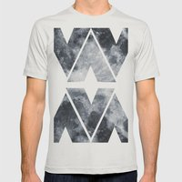 BLACK MOON Mens Fitted Tee Silver SMALL