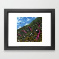 Foxglove Hedgerow Framed Art Print