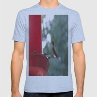 Hummingbird w/ bokeh Mens Fitted Tee Athletic Blue SMALL