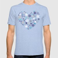 Heart Of Christmas Mens Fitted Tee Tri-Blue SMALL