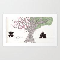 Two Worlds Art Print