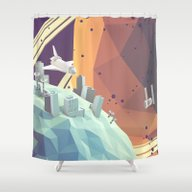 Shower Curtain featuring Space V.2 by Timothy J. Reynolds