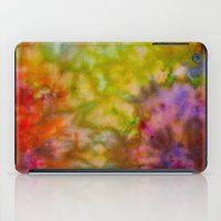 Burgundy and Olive Abstract iPad Case