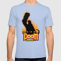 This is My Doom Hand Mens Fitted Tee Tri-Blue SMALL