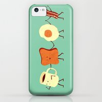 iPhone 5c Cases featuring Let's All Go And Have Breakfast by Teo Zirinis