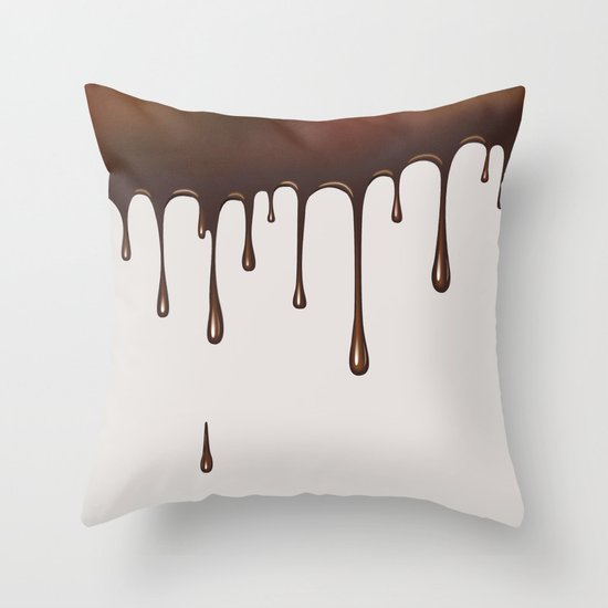 Chocolate Rain Throw Pillow