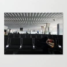 Sleeping in the Mexico City Airport Canvas Print