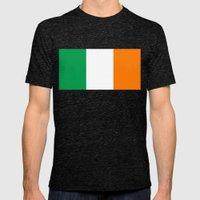 Irish National Flag - Fl… Mens Fitted Tee Tri-Black SMALL
