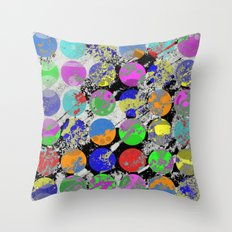 Textured Circles - Abstract, geometric, textured artwork Throw Pillow