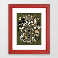 Helmets Of Fandom - Resp… Framed Art Print