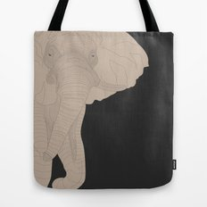 All lines lead to the...Inverted Elephant Tote Bag