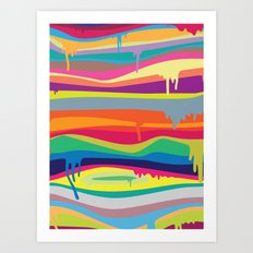 The Melting Art Print