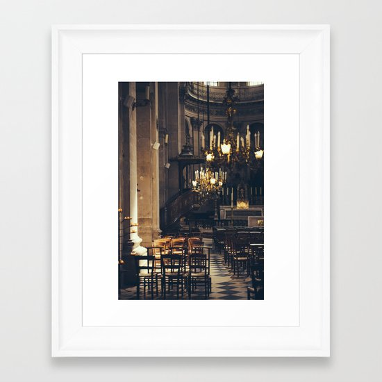 Interior of the Eglise Saint Paul Framed Art Print