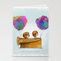 adventure Stationery Cards featuring UP Pixar— Love is the greatest adventure  by Ciara Panacchia