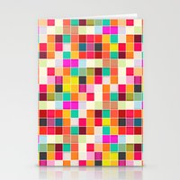 Colorful Rectangles Stationery Cards