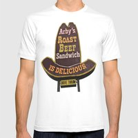 Awesome Arby Mens Fitted Tee White SMALL