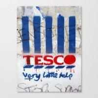 Art On The Run: Anti-Tesco Campaign, Bristol, UK Canvas Print