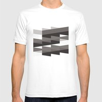 Aronde Pattern #02 Mens Fitted Tee White SMALL