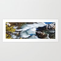 Beautiful Waterfall in Canada Art Print