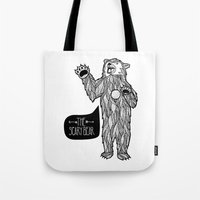 Scary Bear 2 Tote Bag