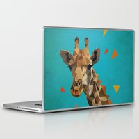 giraffe Laptop & iPad Skins featuring giraffe by gazonula