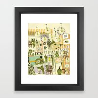 SOLDIERS AT THE BAR Framed Art Print