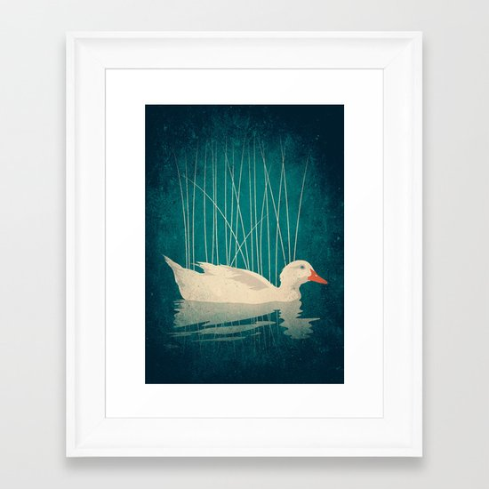 Duck Reflected Framed Art Print