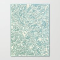Detailed rectangle, light blue  Canvas Print