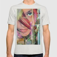 Abstract girl Mens Fitted Tee Silver SMALL