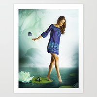 The Lili & The Frog Art Print