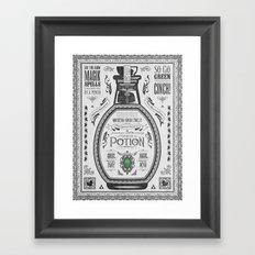 Legend of Zelda Green Chu Potion Advertisement Framed Art Print