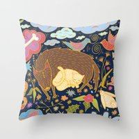 Forest Slumber Throw Pillow