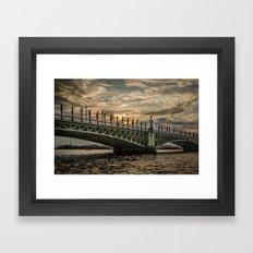 Sunset Over Trinity Brid… Framed Art Print