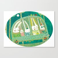 Rabbit Journey Canvas Print