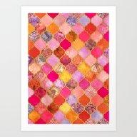 Hot Pink, Gold, Tangerin… Art Print