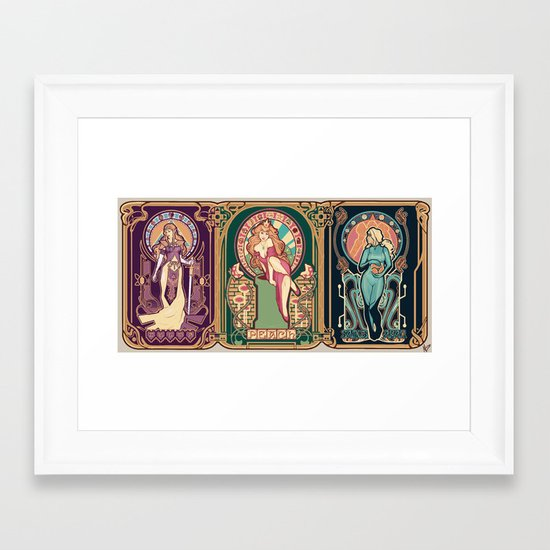 Nintendo Nouveau (art print) Framed Art Print