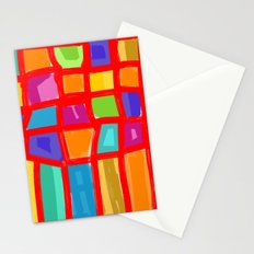 Colorful Grid Stationery Cards