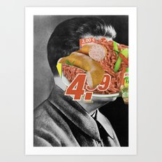 Meat historical assholes 3 Art Print