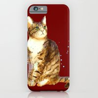iPhone & iPod Case featuring Here Kitty Cosmic Kitty by eastwitching