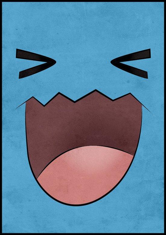 Wobbuffet Design - Minimalistic Poster Art Print