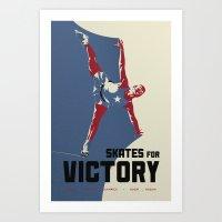 Skates For Victory Art Print