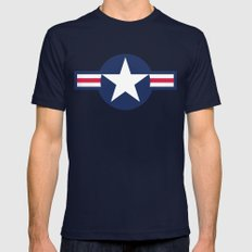 Air force plane symbol - High Quality image Mens Fitted Tee Navy SMALL