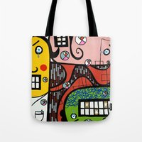 the UNCSCRUPULOUS NONSENSICAL IRREPRESSIBLY INFINITESIMAL INFESTATION of GREED Tote Bag