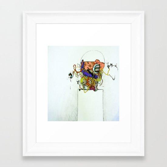 Contents Under Pressure Framed Art Print
